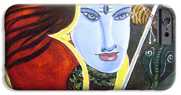 Parvati Paintings iPhone Cases - Lord Shiva iPhone Case by Rajni A