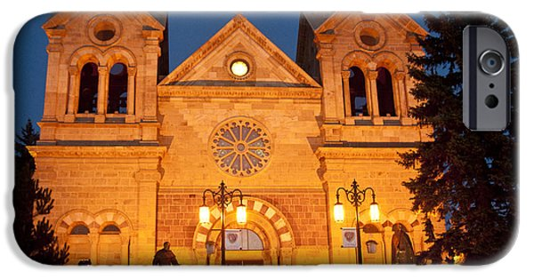 Santa Pyrography iPhone Cases - Loretto Chapel Santa Fe NM iPhone Case by David  King