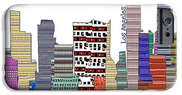 American ist Mixed Media iPhone Cases - Los Angeles iPhone Case by Bri Buckley