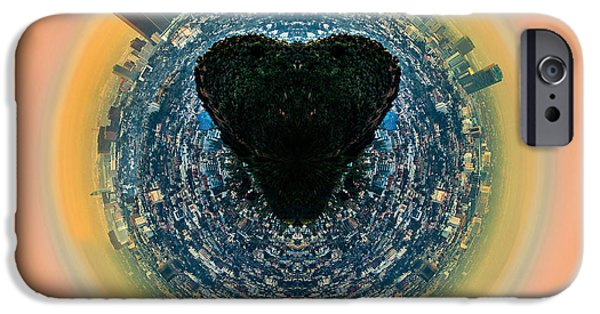 Shape iPhone Cases - Los Angeles Circagraph 1 iPhone Case by Az Jackson