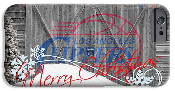 Dunk iPhone Cases - Los Angeles Clippers iPhone Case by Joe Hamilton