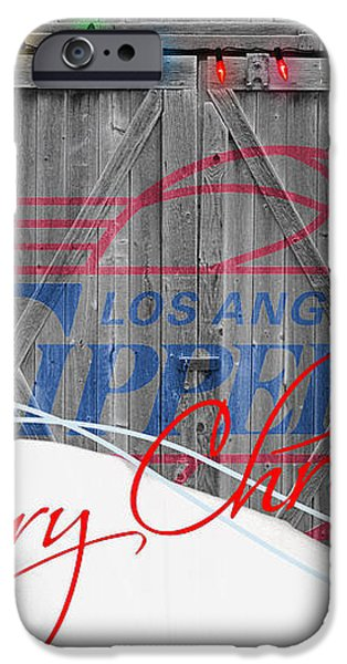 LOS ANGELES CLIPPERS iPhone Case by Joe Hamilton