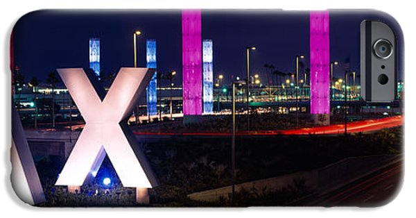 Sign iPhone Cases - Los Angeles Intl Airport Los Angeles Ca iPhone Case by Panoramic Images