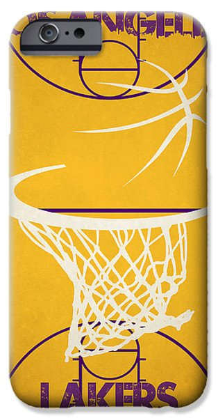 Lakers iPhone Cases - Los Angeles Lakers Court iPhone Case by Joe Hamilton