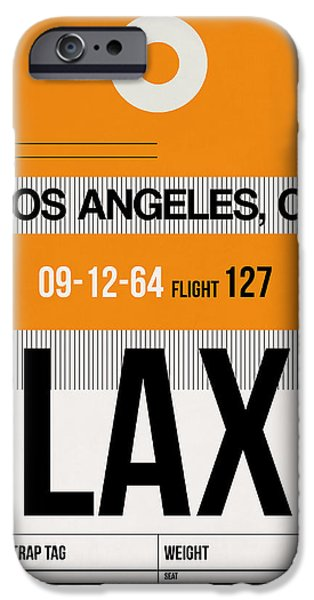 Town Mixed Media iPhone Cases - Los Angeles Luggage Poster 2 iPhone Case by Naxart Studio