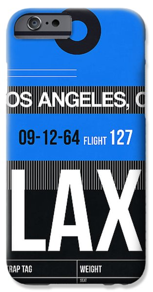 Town Mixed Media iPhone Cases - Los Angeles Luggage Poster 3 iPhone Case by Naxart Studio