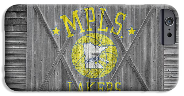 Lakers iPhone Cases - Los Angeles Milwaukee Lakers iPhone Case by Joe Hamilton