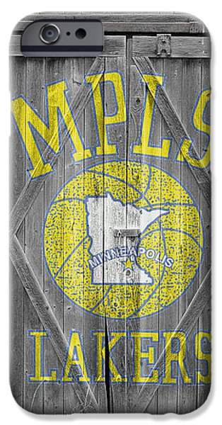 LOS ANGELES MILWAUKEE LAKERS iPhone Case by Joe Hamilton