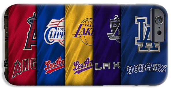 Lakers iPhone Cases - Los Angeles Sports Teams iPhone Case by Joe Hamilton