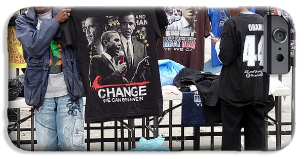 Barack Obama iPhone Cases - Los Angeles Street Scene iPhone Case by Jeff Lowe