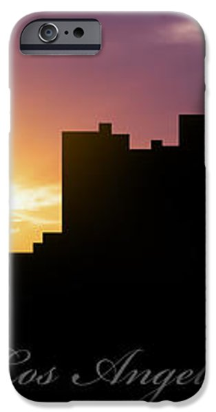 Los Angeles Sunset iPhone Case by Aged Pixel