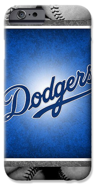 LOS ANGLES DODGERS iPhone Case by Joe Hamilton