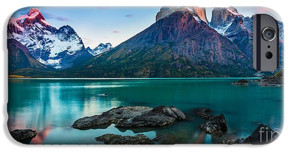 Chile iPhone Cases - Los Cuernos Panorama iPhone Case by Inge Johnsson