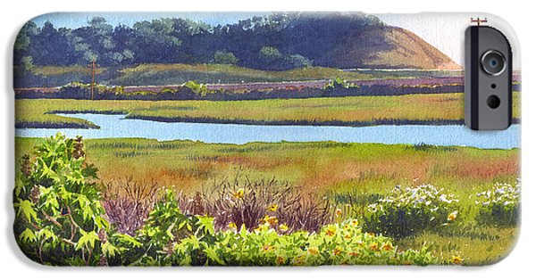 Pines Paintings iPhone Cases - Los Penasquitos Creek Torrey Pines iPhone Case by Mary Helmreich