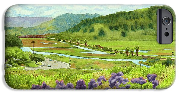 Santa iPhone Cases - Los Penasquitos Looking East iPhone Case by Mary Helmreich