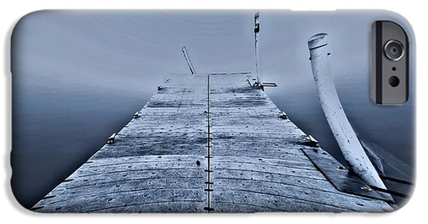 Boats At The Dock iPhone Cases - Lost At Sea iPhone Case by Dan Sproul