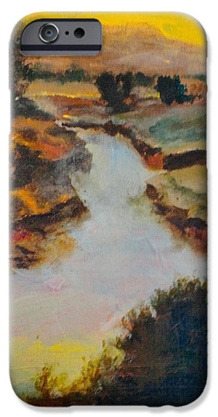 Raw Sienna iPhone Cases - Lost Creek iPhone Case by Jim Ellis