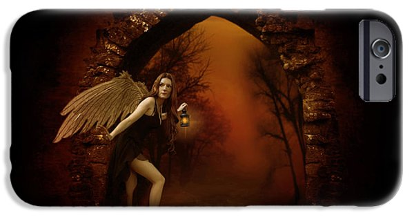 Seraphim Angel iPhone Cases - Lost Fairy iPhone Case by Ester  Rogers