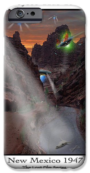 Ufo iPhone Cases - Lost Film Number 2  iPhone Case by Mike McGlothlen