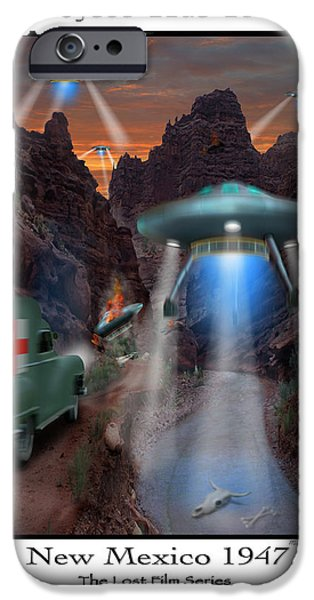 Ufo iPhone Cases - Lost Film Number 3 iPhone Case by Mike McGlothlen