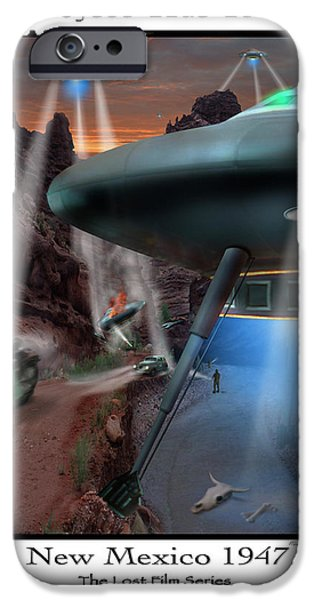 Ufo iPhone Cases - Lost Film Number 4 iPhone Case by Mike McGlothlen