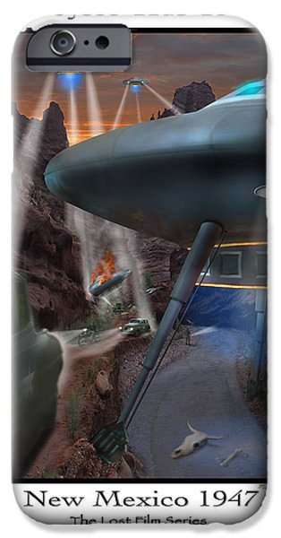Spacecraft iPhone Cases - Lost Film Number 5 iPhone Case by Mike McGlothlen