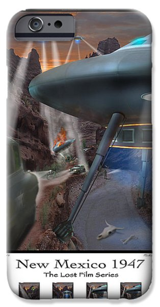 Ufo iPhone Cases - Lost Film Number 5 SE iPhone Case by Mike McGlothlen