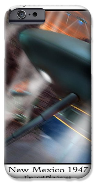 Ufo iPhone Cases - Lost Film Number 6 iPhone Case by Mike McGlothlen