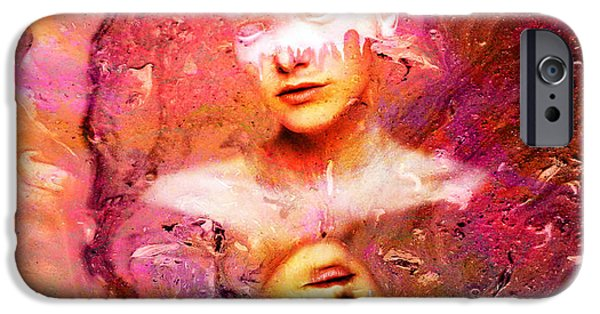 Conceptual Mixed Media iPhone Cases - Lost in Art iPhone Case by Photodream Art