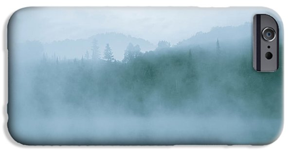 Morning iPhone Cases - Lost In Fog Over Lake iPhone Case by Jola Martysz