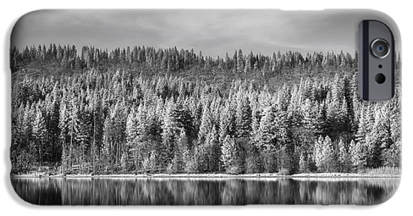 Monotone Photographs iPhone Cases - Lost in Reflection iPhone Case by Laurie Search