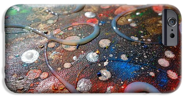 Spectrum Mixed Media iPhone Cases - Lost In Space 3 iPhone Case by Jacqueline Athmann