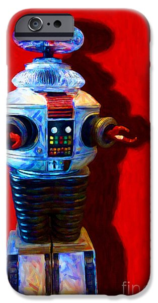 Hi-tech iPhone Cases - Lost In Space Robot - 20130117 iPhone Case by Wingsdomain Art and Photography