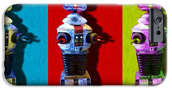 Recently Sold -  - Technology iPhone Cases - Lost In Space Robot 3 - 20130117 iPhone Case by Wingsdomain Art and Photography