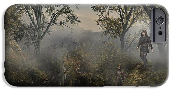 Master Potter iPhone Cases - Lost In The Mist iPhone Case by Vjkelly Artwork