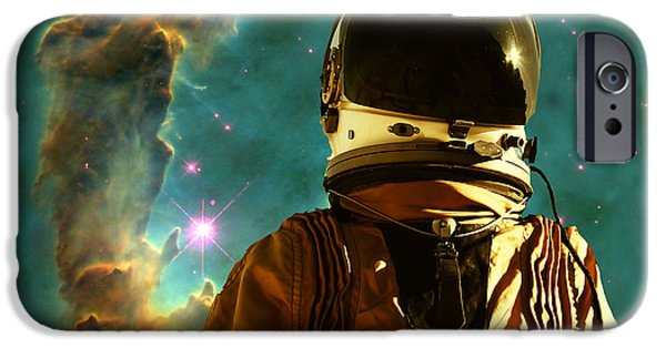 Science Fiction Digital Art iPhone Cases - Lost in the star maker iPhone Case by Matthew Lacey