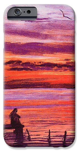 Contemplation iPhone Cases - Lost in Wonder iPhone Case by Jane Small