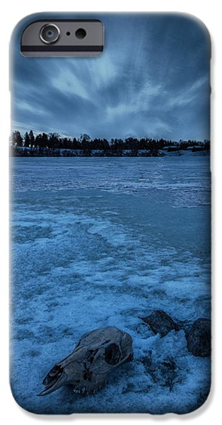 Frozen Lake iPhone Cases - Lost Lake iPhone Case by Aaron J Groen