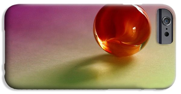 Illinois Glass Art iPhone Cases - Lost Marbles  iPhone Case by Tom Druin