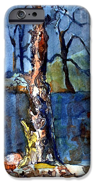 Mystical Landscape Mixed Media iPhone Cases - Lost Memories iPhone Case by Mindy Newman