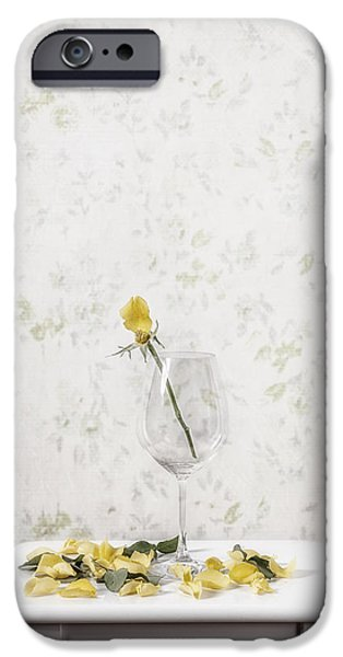 Rose Petals iPhone Cases - Lost Petals iPhone Case by Joana Kruse