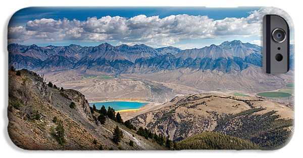Fault iPhone Cases - Lost River Mountain Range iPhone Case by Robert Bales