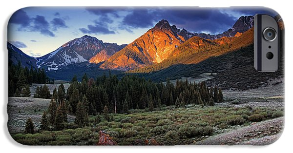 Photography Photographs iPhone Cases - Lost River Mountains iPhone Case by Leland D Howard