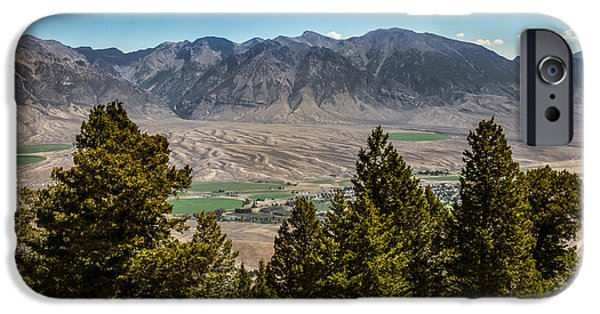 Fault iPhone Cases - Lost River Mountains iPhone Case by Robert Bales