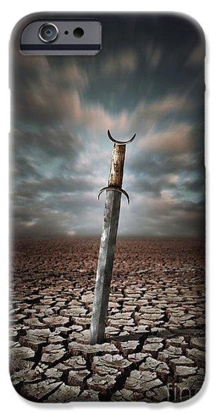 Lost Sword iPhone Case by Carlos Caetano