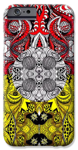 Kenal Louis iPhone Cases - Lost World Of Thoughts iPhone Case by Kenal Louis
