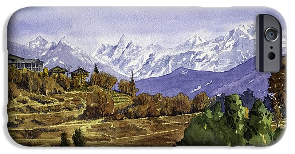 Parvati Paintings iPhone Cases - Lot Village Landscape iPhone Case by Mayank M M Reid