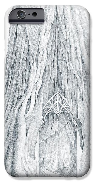 Google Mixed Media iPhone Cases - Lothlorien Mallorn Tree iPhone Case by Curtiss Shaffer