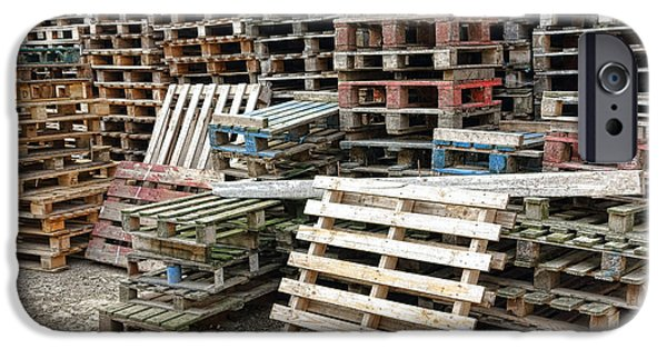 Waiting iPhone Cases - Lots of Pallets iPhone Case by Olivier Le Queinec