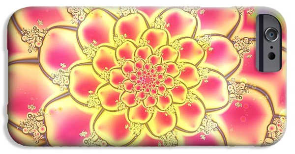 Buddhism Mixed Media iPhone Cases - Lotus iPhone Case by Anastasiya Malakhova